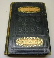 Antique 1860 The Lady's Book of Flowers And Poetry Hard Cover Book