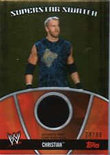 WWE Christian 2010 Topps GOLD Superstar Swatch Relic Card SN 24 of 99
