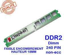 Mémoire 1GO DDR2 PC2-6400 Kingston KVR800D2N6/1G 240PIN 800Mhz 1,8V slim 18MM