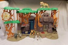 Fisher-Price Imaginext Gorilla Mountain Jungle Playset King Kong + Animals