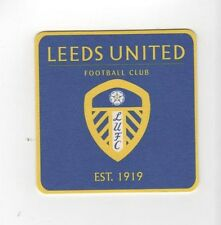 LEEDS UNITED F.C. Pack of Official Beer Mats FREE POSTAGE UK