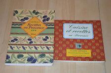 lot 2 livres de cuisine Provençale : Recettes en Provence / Cuisine et Recettes