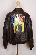 "VINTAGE AVIREX A-2 ""LIBERTY BELLE"" USAAF Flight LEATHER JACKET L / XL"