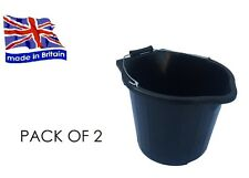 PACK OF 2 -  3 GALLON 14L BLACK POUR AND SCOOP BUCKET WITH METAL HANDLE
