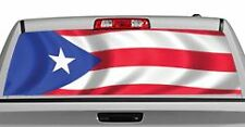 Truck Rear Window Decal Graphic [Flags / Puerto Rico] 20x65in DC84101