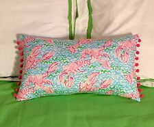 New throw pillow made with LILLY PULITZER Lobstah Roll fabric