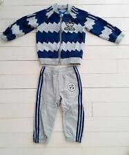 ADIDAS Soccer Superstar Track Suit  Grey Heather/Shadow Blue AJ0234 (18 MONTHS)