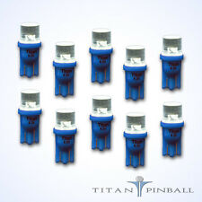 (10 Pack) - 6.3 Volt LED Bulb Flat Top 555 Base (T10) Pinball - BLUE