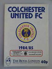 29/03/1985 Colchester Vs Tranmere Rovers Football Match Programme