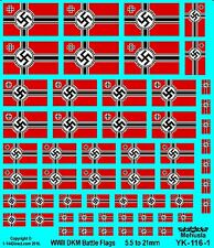 1/72 1/100 1/144 and 1/400 - 1/1200  Decals WW2 German DKM Battle Flags # YK-116