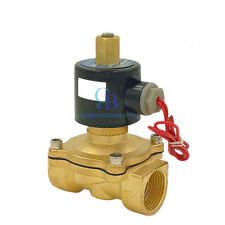 "G1/8"" N/O 12V DC Brass Electric Solenoid Valve Water Gas Air Normally Open Type"