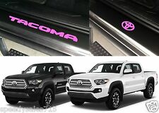 Front & Rear Pink Door Sill Vinyl Inserts 2016-2017 Toyota Tacoma New