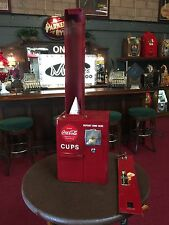"1950's HEALTH SALES CO. Coin Operated Coca Cola Cup Dispenser   ""Watch Video"""