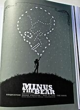 Minus the Bear Mini-Poster for 2007 Concert in George WA -14x10 Unsigned