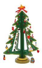 Wooden Christmas Xmas Tree Dinner Table Centrepiece Ornament with Decorations