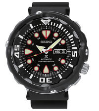 New Seiko SRP655 Prospex Baby Tuna Automatic Rubber Black Hard Coat Men's Watch