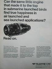 2/1977 PUB TELEDYNE CAE TURBINE ENGINES HARPOON MISSILE J402 TURBOJET ENGINE AD