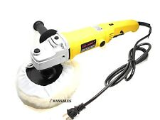 "7"" VARIABLE 6-SPEED ELECTRIC CAR POLISHER/BUFFER & SANDER w/ BONNET PAD"