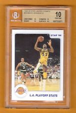 MAGIC JOHNSON 1985-86 STAR LAKERS CHAMPS # 14  BGS 10 PRISTINE POP 1