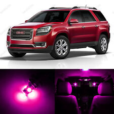 12 x Pink/Purple LED Interior Light Package For 2007 - 2014 GMC Acadia