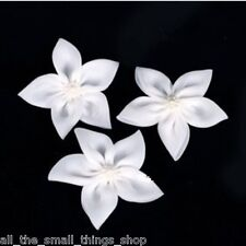 One Lily Flower Pearl Hair Clip Slide Broach Corsage Wedding Bridesmaid Bridal