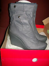 NIB DKNY Gillian Charcoal Wedge Boots Size 10  EU. 41 Retail. $140.00
