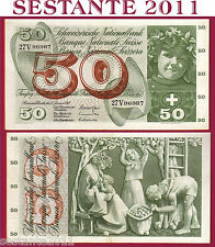 # SWITZERLAND / SVIZZERA - 50 FRANKEN 15.1. 1969 sign. 45  P 48I, SPL / XF  fori