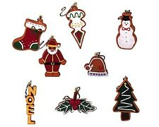 GINGERBREAD DECORATIONS SET OF 8 #44155 LEMAX SUGAR 'N SPICE COLLECTION