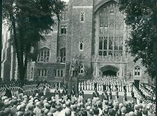 1938 Crowd, Troops at US Military Academy West Point Original News Service Photo
