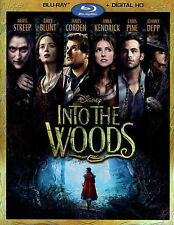 Rob Marshall's INTO THE WOODS (Blu-ray) MINT! w/slip cover Streep Blunt Kendrick