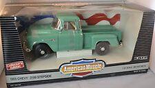 ERTL 1/18 1955 Chevy 3100 Stepside Ocean GREEN Pickup Truck 7339 American Muscle
