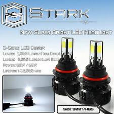 9007 HB5 LED 80W 8000LM 6000K White 3-Sided Upgrade from HID Kit Dual Hi Lo (A)