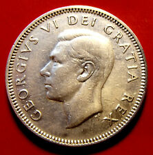 VERY RARE 18 DEGREE DIE ROTATION ERROR 1949  Canada Twenty Five Cents  George VI