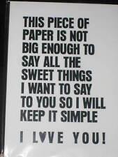 Sincères message à être aimé, je vous aime, st-valentin anniversaire carte de vœux