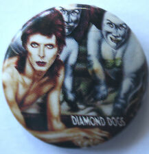 DAVID BOWIE Diamond Dogs Button Badge Safety Pin Fastener 25mm
