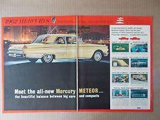 1962 MERCURY METEOR 2 PAGE VINTAGE MAGAZINE AD  INV#258