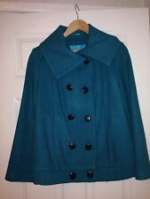 Ladies Marks And Spencer Per Una Turquoise Coat Size 10 BNWT RRP £59.50