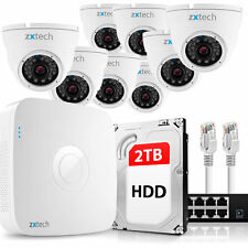 8 HD 1.3MP 1080P Infrared IP IPC & 8 CH NVR PoE Free P2P CCTV System 2TB OE88AB2