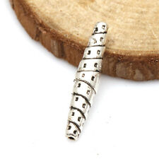 Unisex gifts 10pcs Tibetan Silver Crafts Tube Art Findings Spacer Beads TA1956