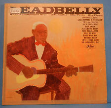 LEADBELLY HUUDDIE LEDBETTER'S BEST VINYL LP 1963 MONO ORIG PLAYS GREAT! VG/VG!!