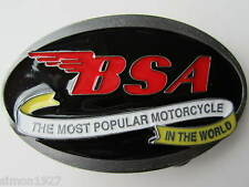 BSA motor cycle belt buckle golden flash 650 twin classic bike