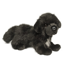 """Bundy Newfoundland 13"""" black dog stuffed animal plush newfie Douglas Cuddle Toy"""