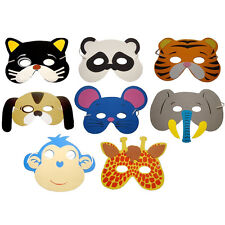 10x Childrens Foam Animal Masks All Occasions Birthday Party Bag Filler Toys New
