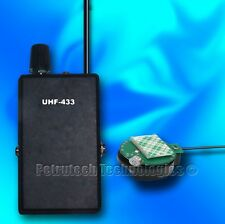 UHF SET RECEIVER and TRANSMITTER POWERFUL PRO CRYSTAL BUG SPY 3-6V STABLE