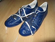 HARDLY USED BLUE CRUYFF VANENBURG RECOPA LEATHER TRAINERS SNEAKERS 9 UK 43 EU