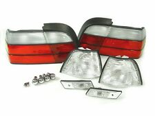 DEPO 12PCS 92-96 BMW E36 4D SEDAN CLEAR CORNER+TAIL+SIDE MARKER LIGHT