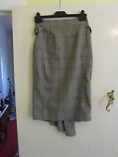 Calf Length Smart Next Check Pencil Skirt in Size 6