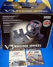 volante y 2 juegos V3 RACING WHEEL para playstation buen estado