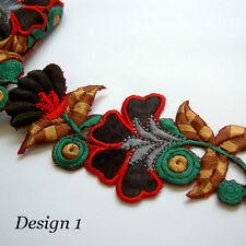 Eve Garden --- Cotton Silk Embroidered Trim *1/2 meter* *Wide*