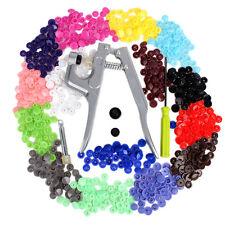 KAM Button Fastener Snap Pliers 150PCS +T5 Plastic Resin Press Stud Cloth Diaper